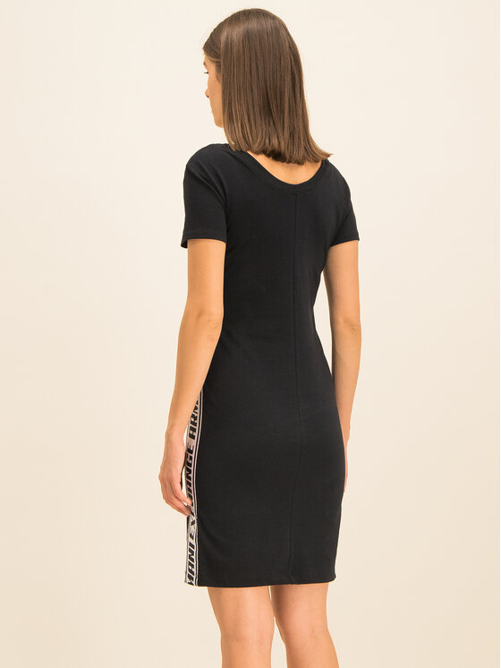Armani Exchange Armani Exchange Letné šaty 3HYABN YJ90Z 1200 Čierna Slim Fit