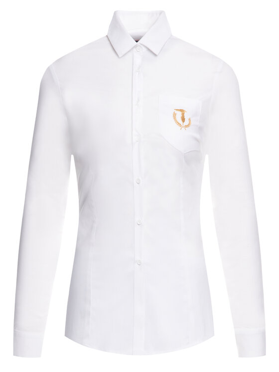 Trussardi Trussardi Koszula Popeline 56C00451 Biały Slim Fit
