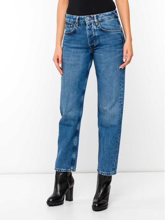 Pepe Jeans Pepe Jeans Jeansy DUA LIPA Brave PL203583 Granatowy Relaxed Fit
