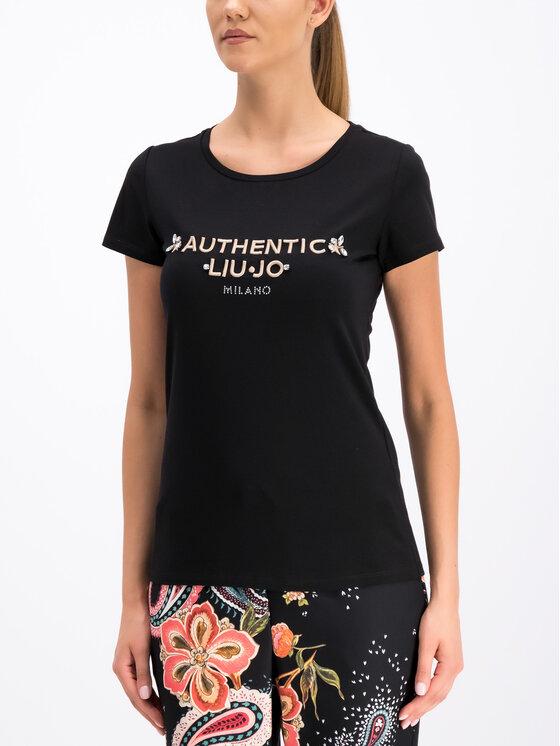 Liu Jo Sport Liu Jo Sport T-Shirt T19158 J5003 Μαύρο Regular Fit