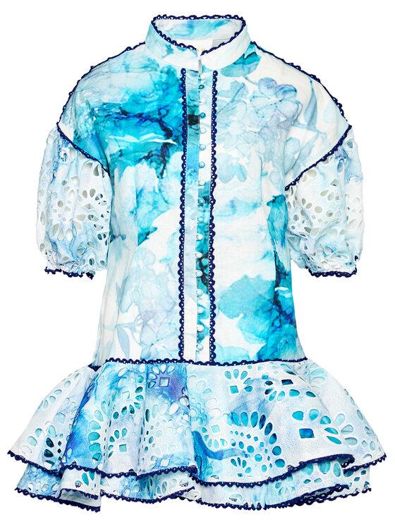 IXIAH IXIAH Sukienka letnia IX22-80510 Niebieski Regular Fit