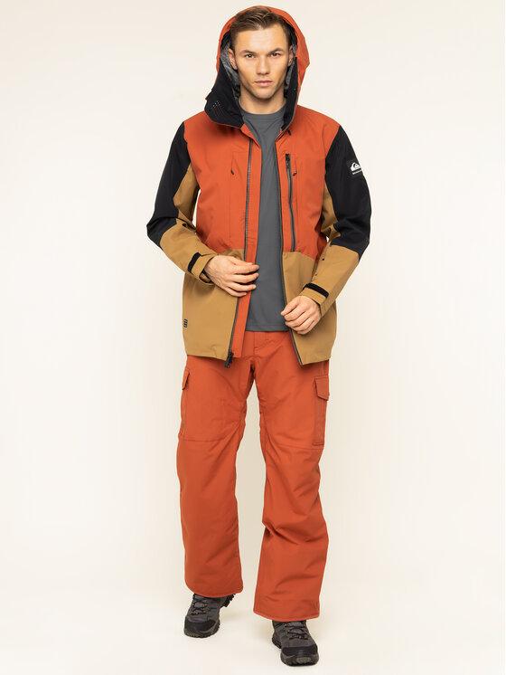 Quiksilver Quiksilver Kurtka snowboardowa Travis EQYTJ03231 Pomarańczowy Modern Fit