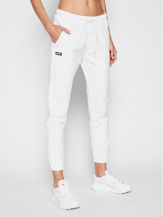Diamante Wear Diamante Wear Joggery Unisex Classic 4054 Biały Regular Fit