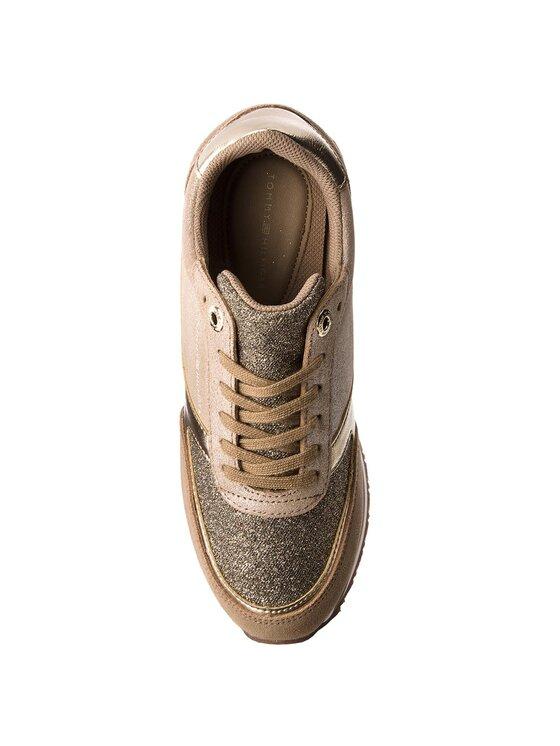 TOMMY HILFIGER TOMMY HILFIGER Sneakers Metallic Retro Runner FW0FW03634 Goldfarben