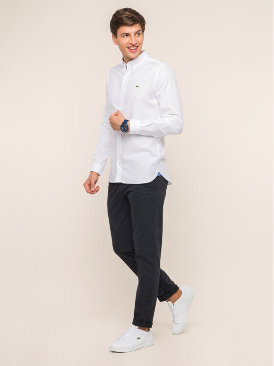 Lacoste Lacoste Риза CH1948 Бял Slim Fit