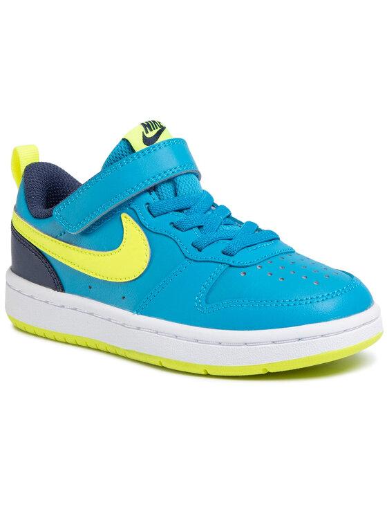 Nike Nike Buty Court Borough Low 2 (Psv) BQ5451 400 Niebieski