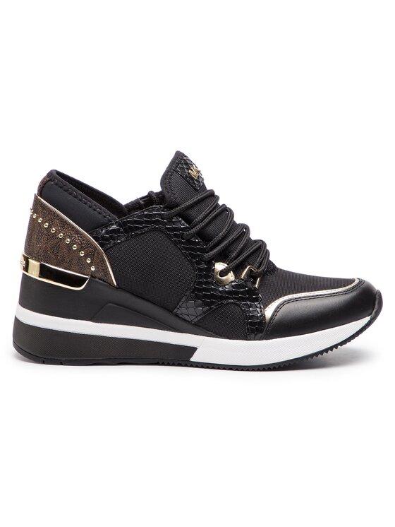 MICHAEL Michael Kors MICHAEL Michael Kors Sneakersy Liv Trainer Canvas 43R9LVFS4D Černá