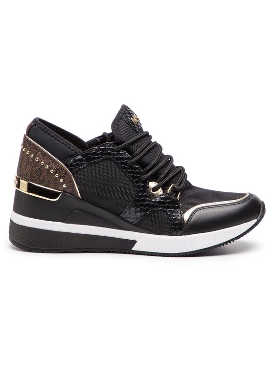 MICHAEL Michael Kors MICHAEL Michael Kors Sneakersy Liv Trainer Canvas 43R9LVFS4D Čierna