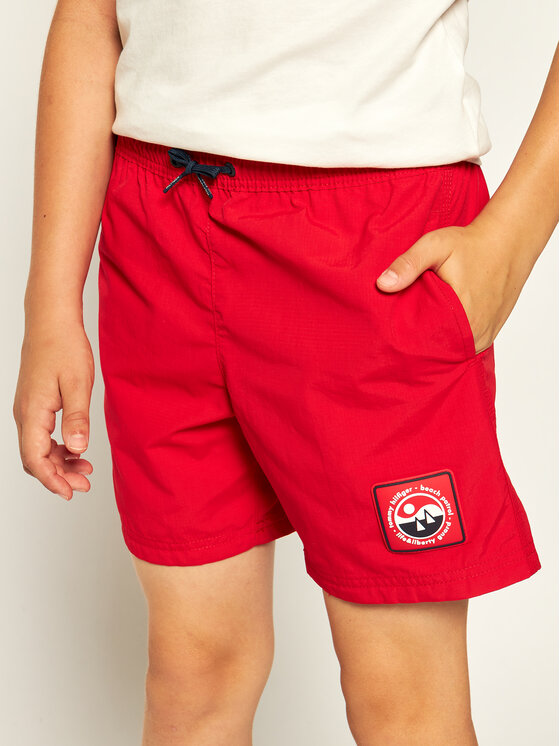 TOMMY HILFIGER TOMMY HILFIGER Badeshorts Medium Drawstring UB0UB00272 Rot Regular Fit