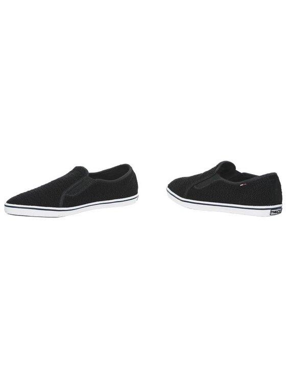 Tommy Hilfiger Tommy Hilfiger Πάνινα παπούτσια DENIM - Spencer 19 EM56815349 Μαύρο