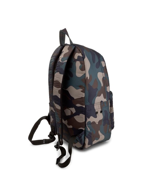 Tommy Hilfiger Tommy Hilfiger Zaino Light Nylon Backpack Camo Stripe AM0AM02918 Blu scuro