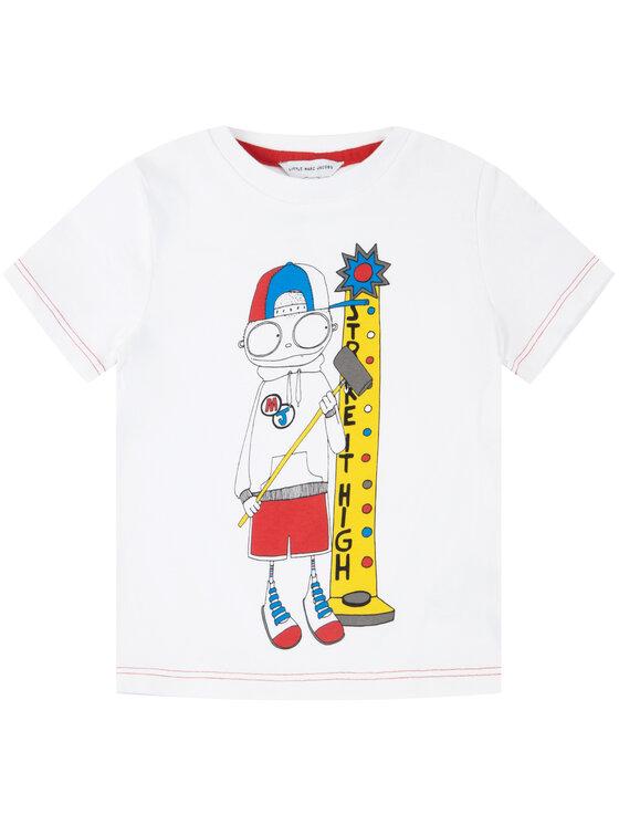 Little Marc Jacobs Little Marc Jacobs T-Shirt W25414 Biały Regular Fit