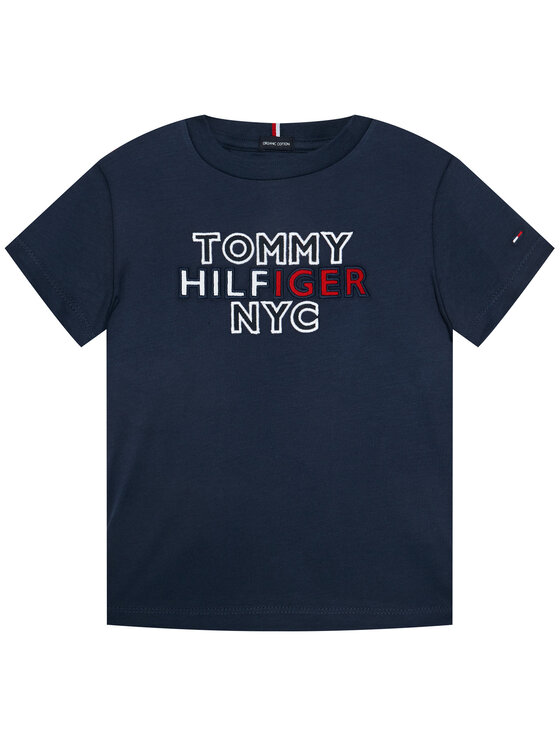 Tommy Hilfiger Tommy Hilfiger T-Shirt Th Nyc Graphic Tee KB0KB05848 M Tmavomodrá Regular Fit