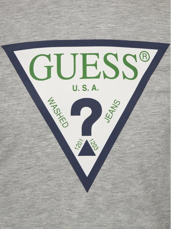 Guess Guess T-Shirt M92I24 J1300 Γκρι Super Slim Fit
