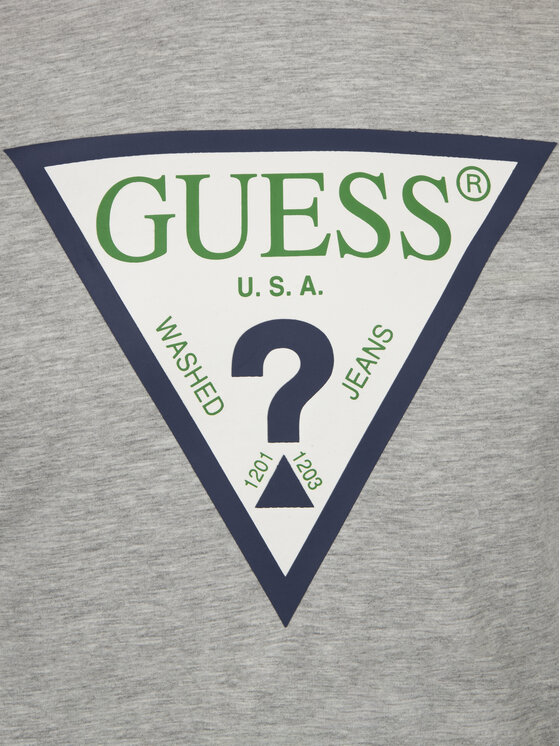 Guess Guess Tričko M92I24 J1300 Sivá Super Slim Fit