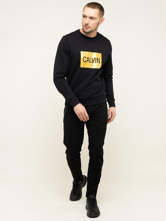 Calvin Klein Jeans Calvin Klein Jeans Mikina Metallic Logo J30J313214 Černá Regular Fit