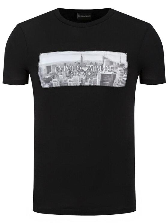 Emporio Armani Emporio Armani T-Shirt 3H1T62 1J30Z 0008 Czarny Regular Fit