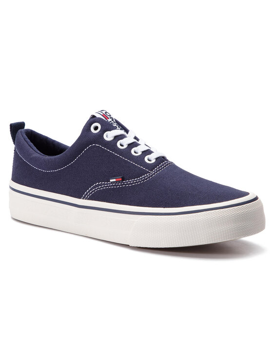 Tommy Jeans Tommy Jeans Sneakers aus Stoff Classic Tommy Jeans Sneaker EM0EM00259 Dunkelblau