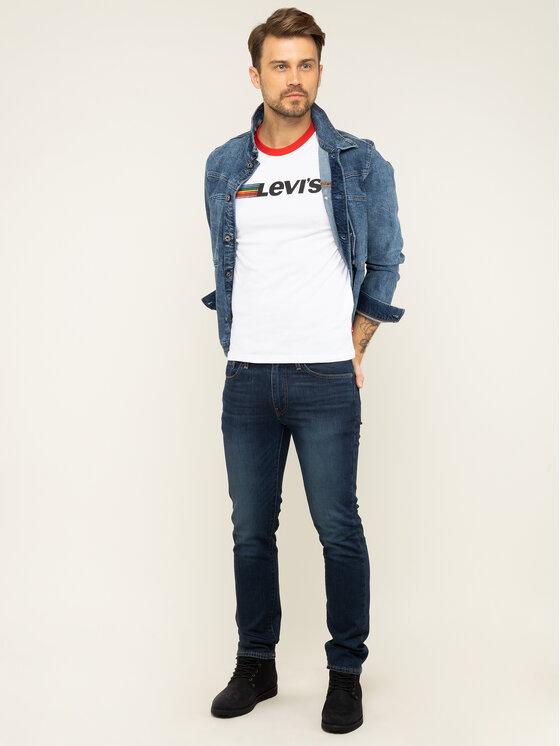 Levi's Levi's Marškinėliai Ringer Tee 39969-0019 Balta Regular Fit