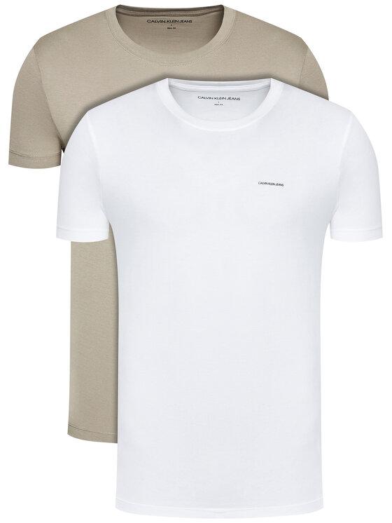 Calvin Klein Jeans 2 marškinėlių komplektas J30J315194 Balta Slim Fit