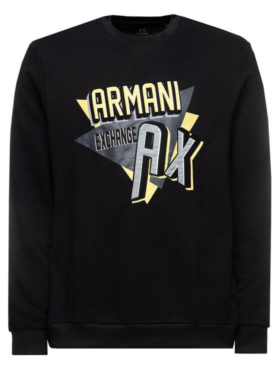 Armani Exchange Armani Exchange Bluză 3HZMAJ ZJ4FZ 1200 Negru Regular Fit