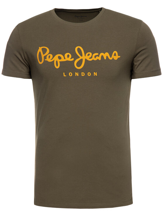 Pepe Jeans Pepe Jeans T-shirt Original Stretch PM501594 Verde Slim Fit