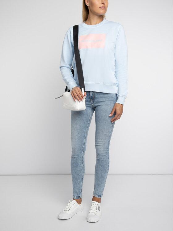 Calvin Klein Jeans Calvin Klein Jeans Bluza Institutional Box Logo J20J211491 Niebieski Regular Fit