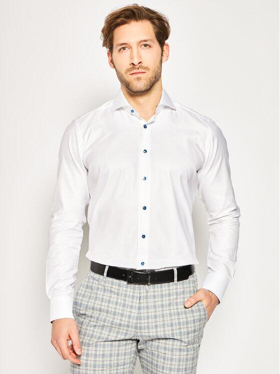 Emanuel Berg Marškiniai Hv-Harvard PEB45766 Balta Slim Fit