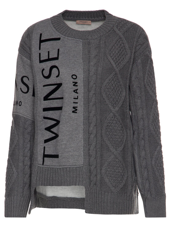 TwinSet TwinSet Pullover 192TT3060 Grau Regular Fit