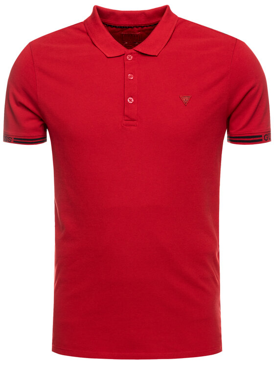 Guess Guess Polo M93P40 K8510 Rouge Slim Fit
