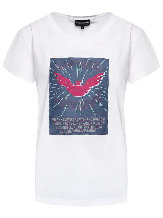 Emporio Armani Emporio Armani T-Shirt 3H2T7N 2J30Z 0100 Weiß Regular Fit