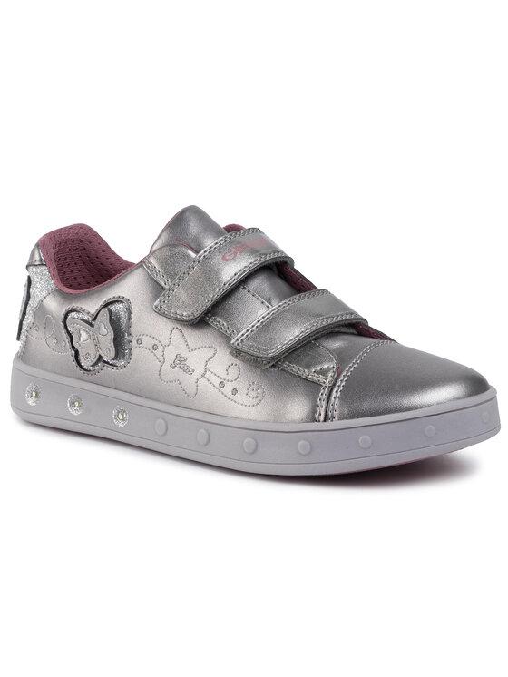 Geox Geox Sneakersy J Skylin G. C J948WC 0NFKN C1009 DD Stříbrná