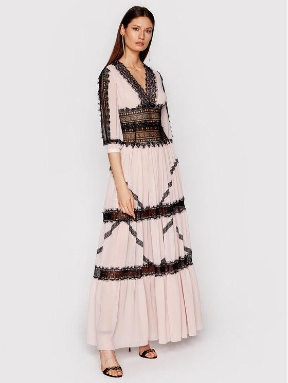 Babylon Vakarinė suknelė N_E00718 Rožinė Regular Fit