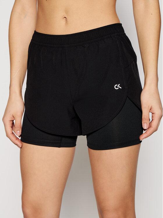 Calvin Klein Performance Szorty sportowe 00GWS1S802 Czarny Regular Fit