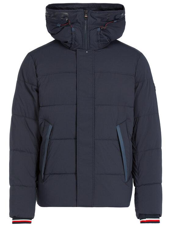 Tommy Hilfiger Tommy Hilfiger Zimní bunda Strech MW0MW11509 Tmavomodrá Regular Fit