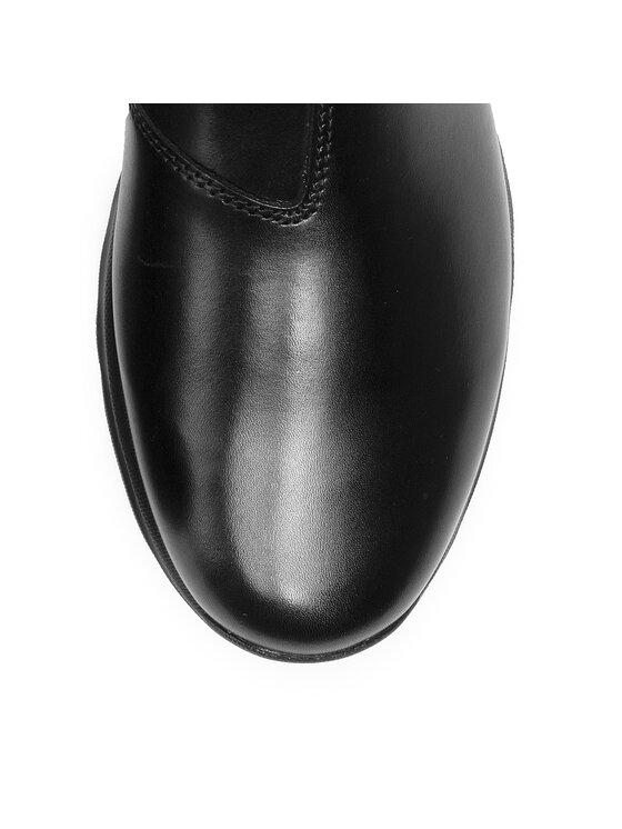 Geox Geox Členková obuv s elastickým prvkom U Damian B U940HB 043BC C9999 Čierna