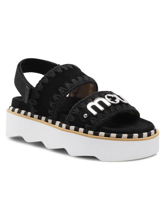 Mou Basutės New Bio Sandal Belt Logo 01B SW271001A Juoda