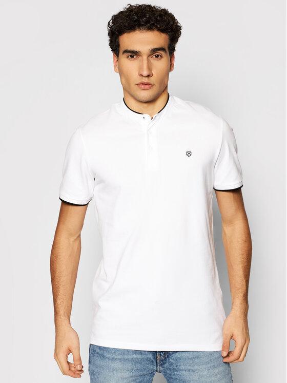 Jack&Jones PREMIUM Polo marškinėliai Blastretch 12188451 Balta Regular Fit