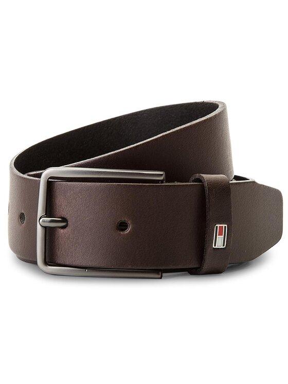 TOMMY HILFIGER TOMMY HILFIGER Pánsky opasok Smooth Leather Belt AM0AM03483 85 Hnedá