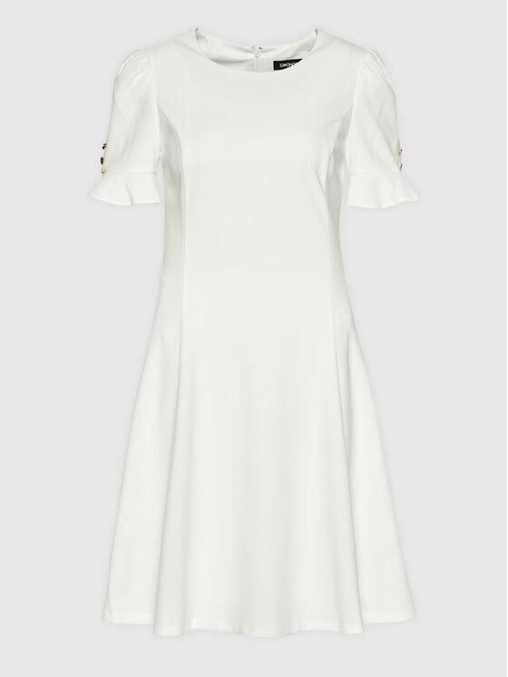 DKNY DKNY Koktel haljina DD1E1593 Bež Regular Fit