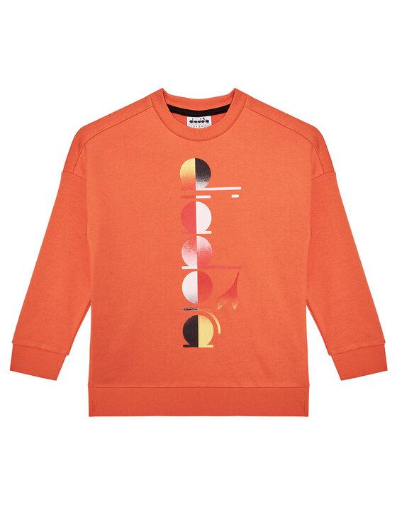 Diadora Džemperis Jb. Sweatshirt Crew Diadora Club 102.177125 Oranžinė Comfort Fit