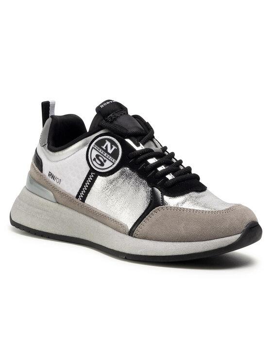 North Sails Laisvalaikio batai RW/01 Ice Metal -072 Sidabrinė