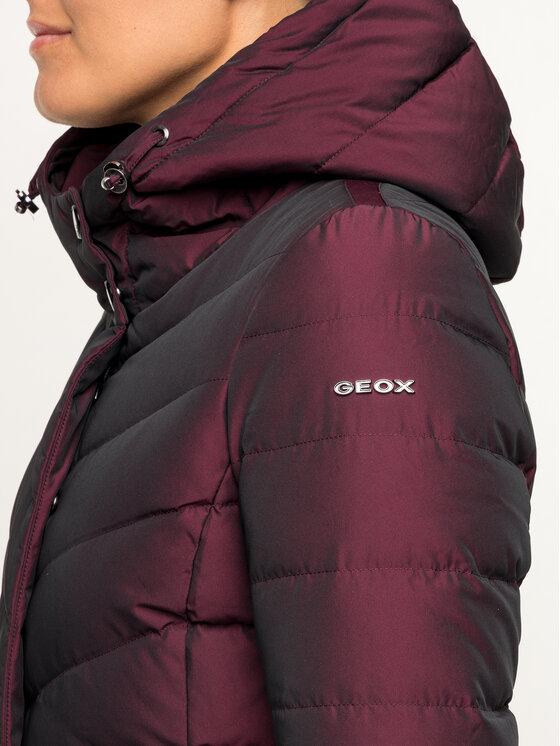 Geox Geox Μπουφάν πουπουλένιο W9425L T2573 F8266 Μπορντό Regular Fit