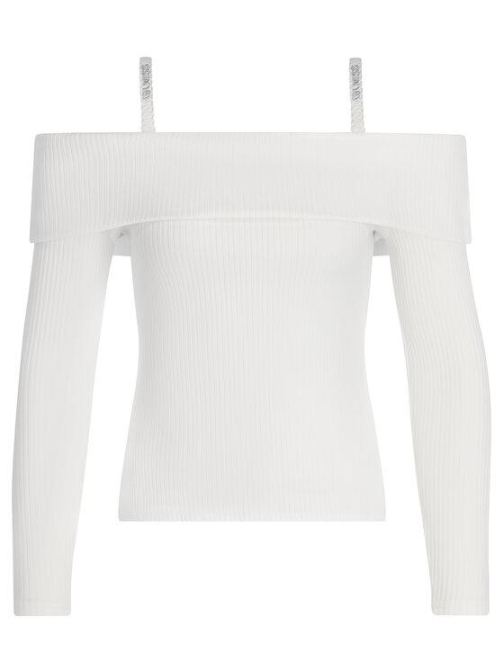 Guess Guess Πουλόβερ W93P58 K86Z0 Λευκό Slim Fit