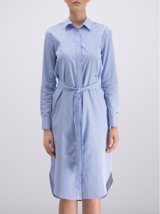 Tommy Hilfiger Tommy Hilfiger Marškinių tipo suknelė WW0WW25286 Mėlyna Regular Fit
