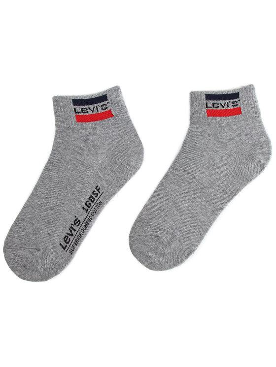 Levi's® Levi's® Sada 2 párů vysokých ponožek unisex 993030001 Bílá