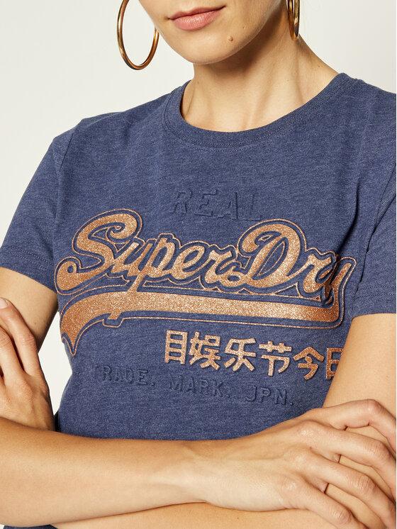 Superdry Superdry Тишърт W1000040A Тъмносин Regular Fit