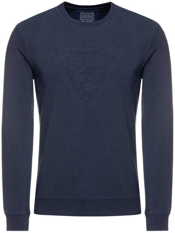 Guess Guess Sweatshirt Ben M94Q35 K92C0 Bleu marine Regular Fit