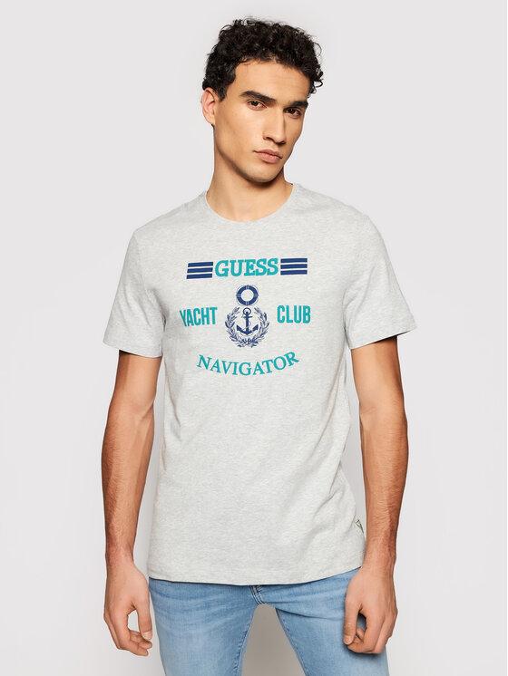 Guess Guess T-Shirt M92I33 J1300 Szary Super Slim Fit