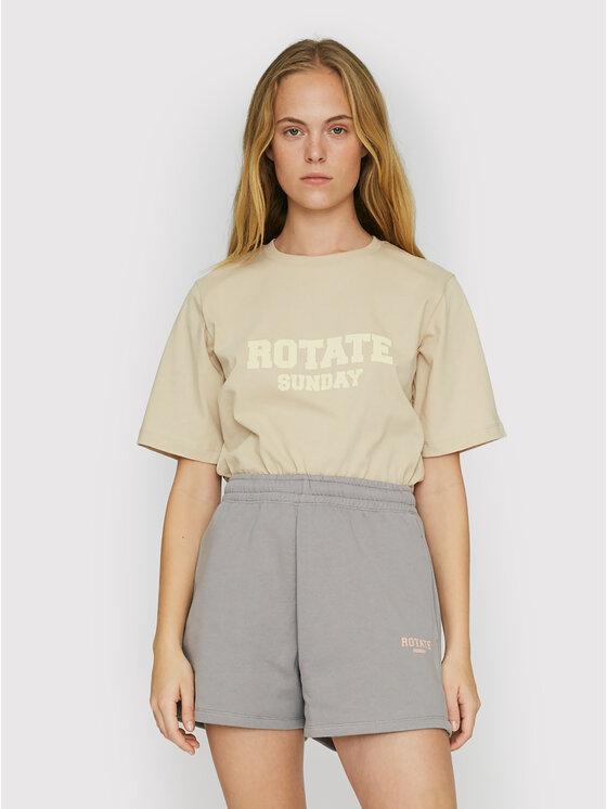 ROTATE Marškinėliai Aster RT453 Smėlio Loose Fit